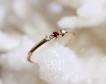 "14K Ruby & Diamond ""Ruby Tuesday"" Ring"