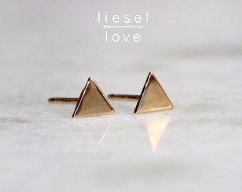 Solid 10K Gold Triangle Studs