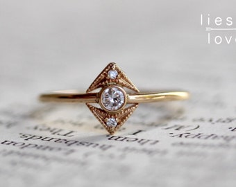 "14K Gold Diamond ""Zelda"" Ring"