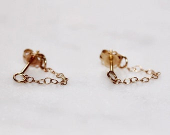 14K Gold Wrap Around Studs
