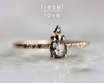 "14K Gold ""Silver Mist"" Diamond Ring"