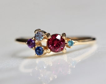 14K Gold Autumn Ring