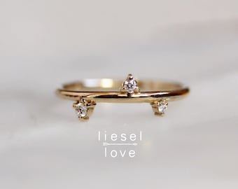"14K Gold ""Constellation"" Diamond Ring"