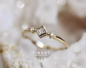 "14K Diamond ""Deco"" Ring"