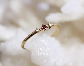 "14K Ruby & Diamond ""Ruby Tuesday"" Ring"