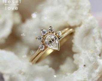 """14K Gold """"Regal"""" Diamond Ring Set"""