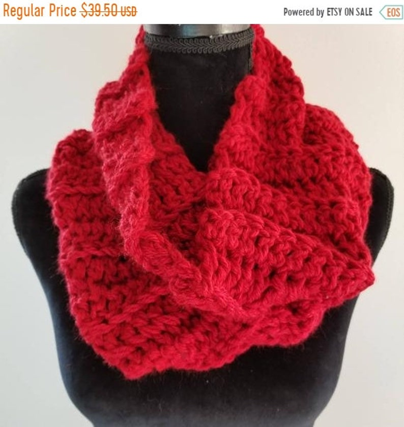 ON SALE Infinity Scarf  Outlander Inspired Scarf Chunky image 0
