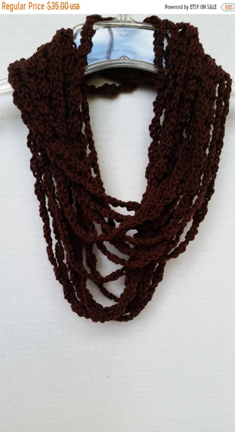ON SALE Infinity Scarf Scarves for Women Chain Scarf image 0