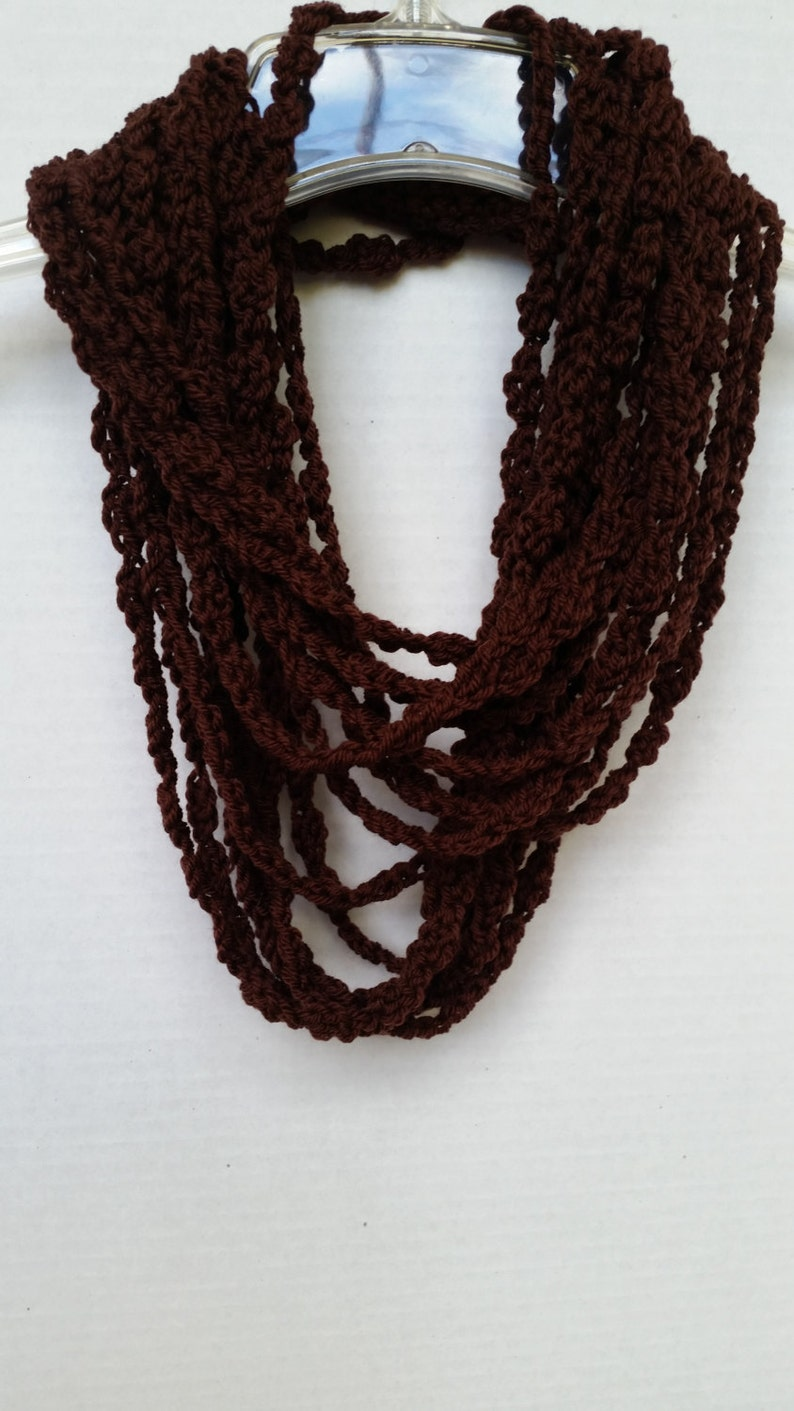 Infinity Scarf Scarves for Women Chain Scarf Crochet Scarf image 0
