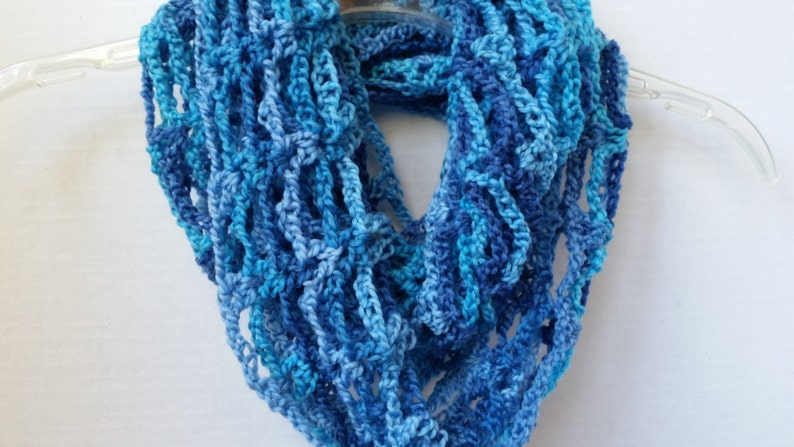 Infinity Mobius Cowl  Scarves for Women Blue Scarf Multi image 0
