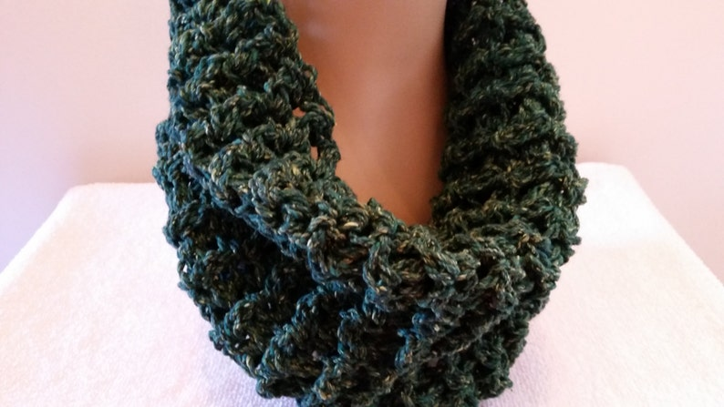 Infinity Cowl  Claire Scarf Scottish Inspired Scarf Chunky image 0