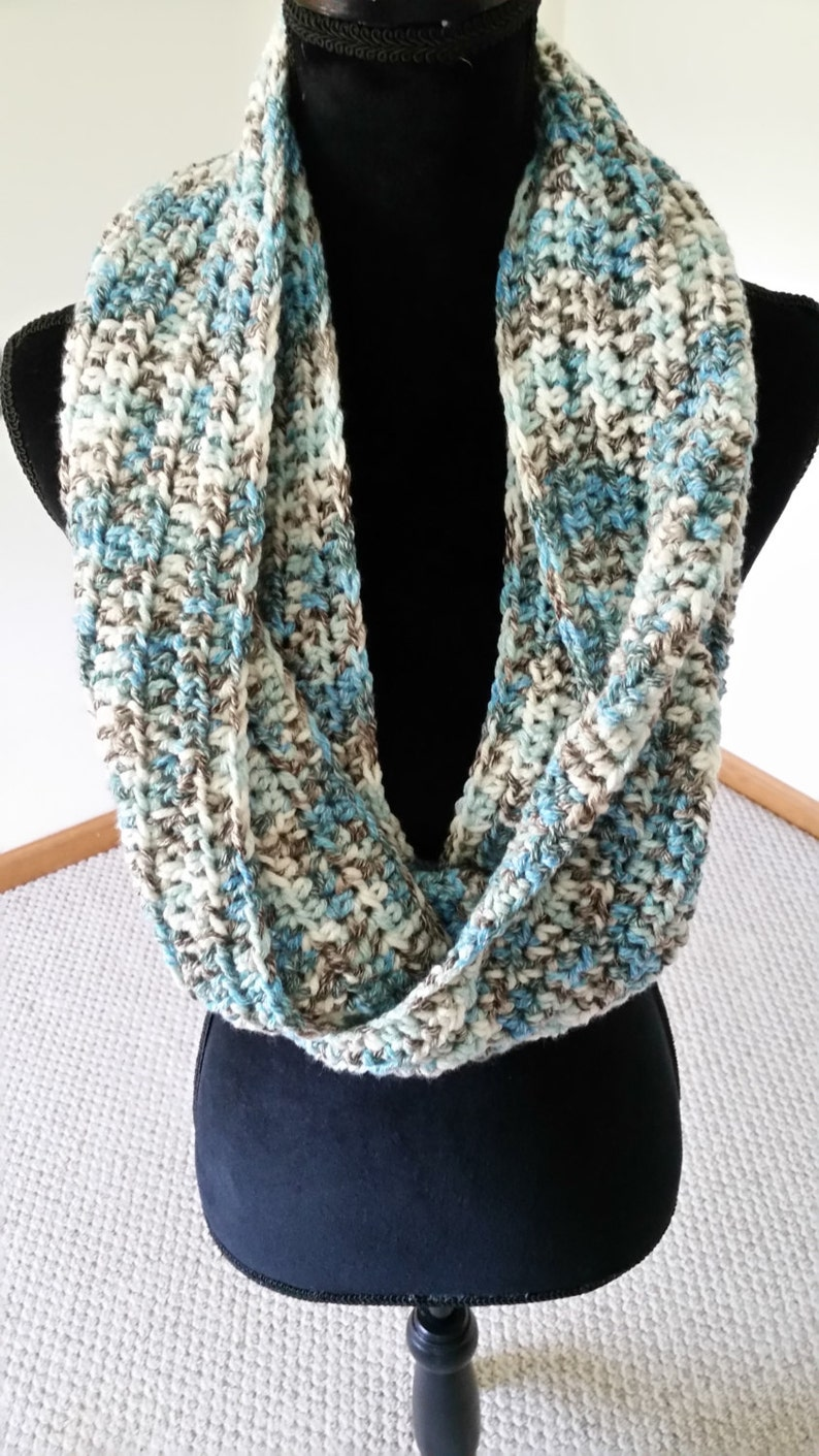Infinity Cowl Scarf  Chunky Scarf Scarves for Women Unisex image 0