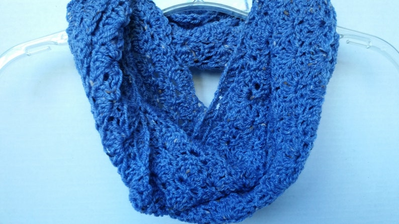 Scarf Infinity Cowl  Scarves for Women Circle Scarf Blue image 0
