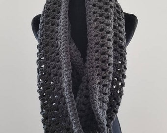 ON SALE Infinity Scarf - Hooded Scarf, Cowl Infinity Crochet Scarf, Scarves for Women, Gift for Her, Handmade Scarf