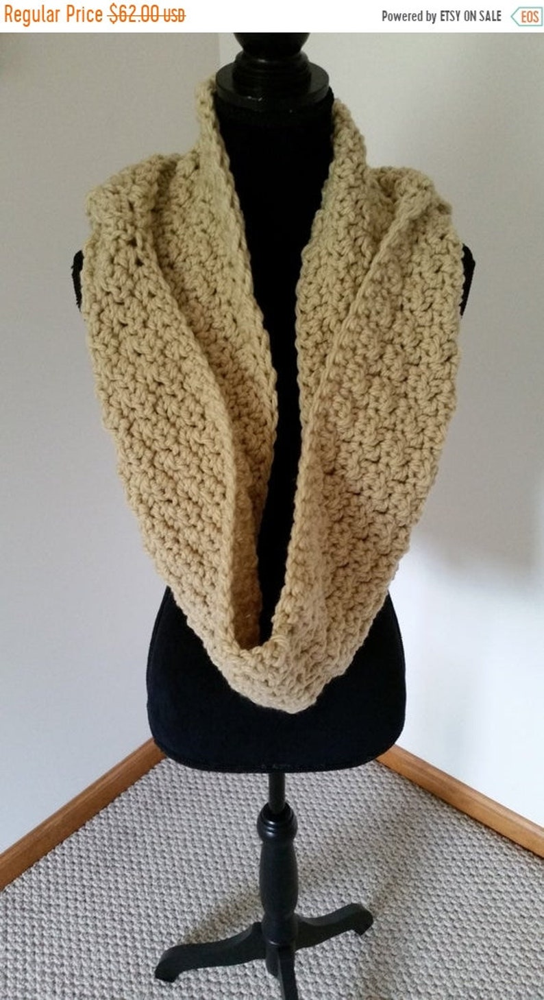 ON SALE Hooded Scarf  Infinity Scarf Scarves for Women Gift image 0