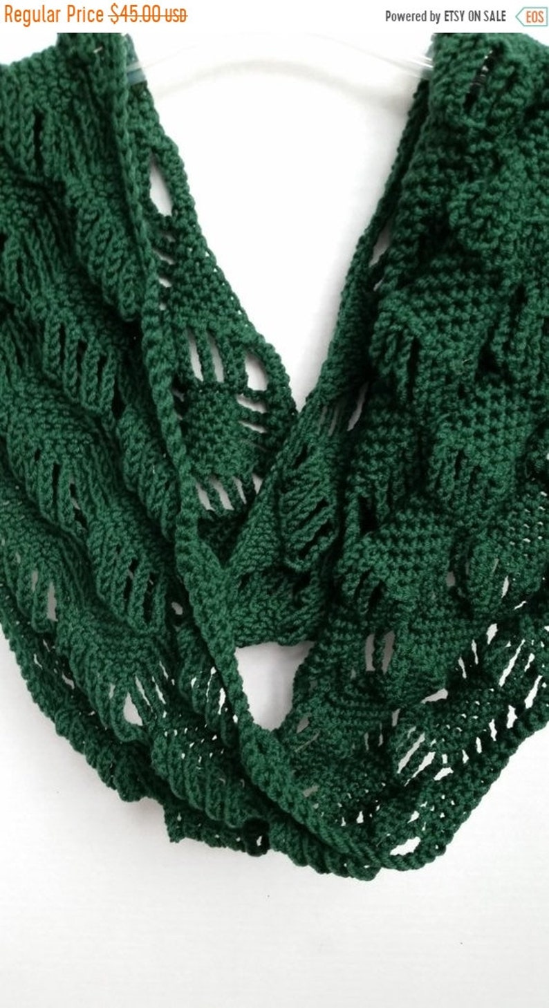 On Sale Scarf Infinity Cowl Scarves For Women Crochet Etsy