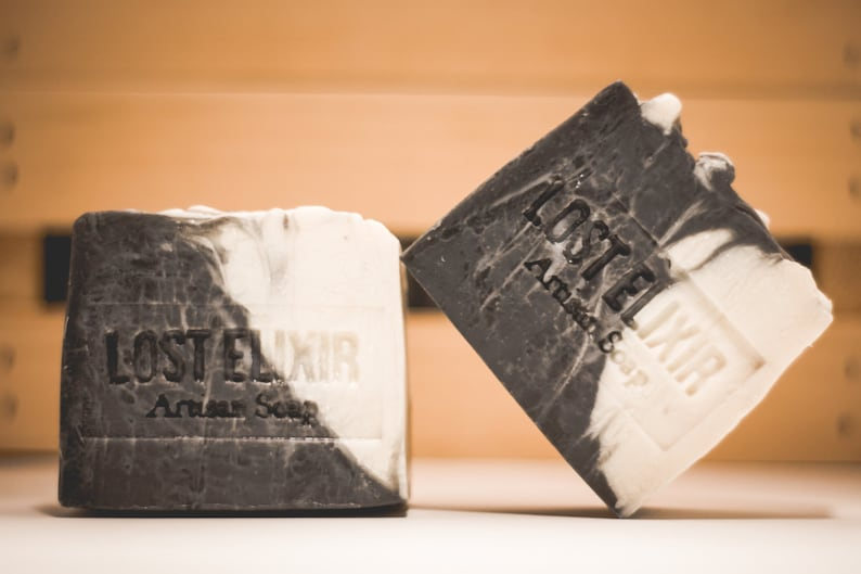 Activated Charcoal Soap Bar Handmade Artisan Soap image 0