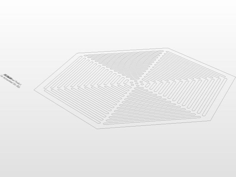 Grill dxf file for plasma cutting