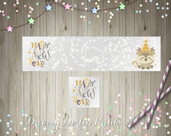 Happy New Year's Shop Graphics, Facebook, Etsy Set, New Year Etsy Cover, Blank/DIY, Instant Download!
