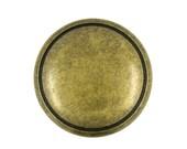 Metal Buttons - Antique Brass Metal Shank Buttons - 20mm - 3 4 inch - 6 pcs