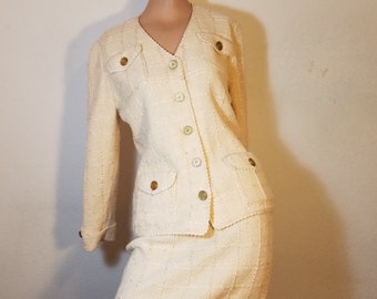 FREE  SHIPPING   Vintage Adolfo Woman Suit