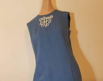 FREE  SHIPPING  1859 Irish Linen Dress