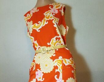 FREE  SHIPPING  1960 Designer Hawaiian Dress