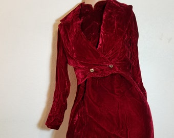 FREE  SHIPPING   Silk Velvet  Dress Set