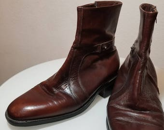 FREE  SHIPPING  Vintage  Men  Dress 1/2 Boots