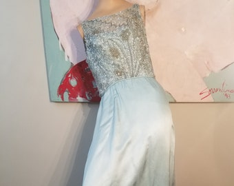 FREE  SHIPPING  Vintage  1950  Malcolm  Starr  Gown