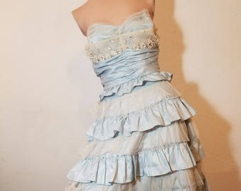 FREE  SHIPPING   1980 Betsey Johnson Designer  Gown