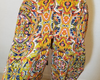FREE  SHIPPING  Mod  Psychedelic  Palazzo  Pants