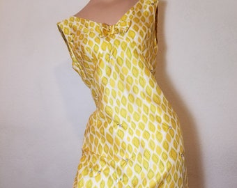 FREE  SHIPPING   1950  Silk  dress