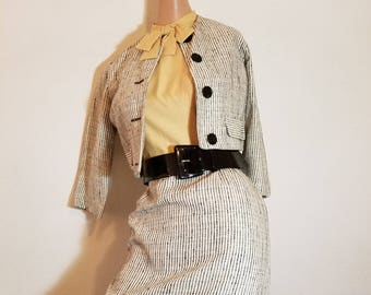 FREE  SHIPPING   1950  Designer Dress and Jacket