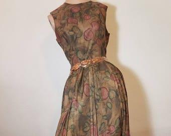 FREE  SHIPPING    1950  Day  Dress