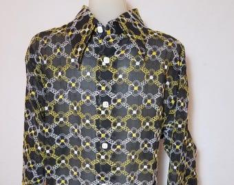 FREE  SHIPPING   1970 Nylon  Men  shirt
