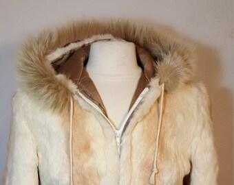 FREE  SHIPPING   Fur Hooded Jacket