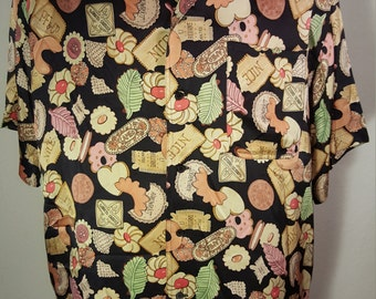 18857651 FREE SHIPPING Men Nicole Miller Silk Shirt. VINTAGErevengCOUTURE