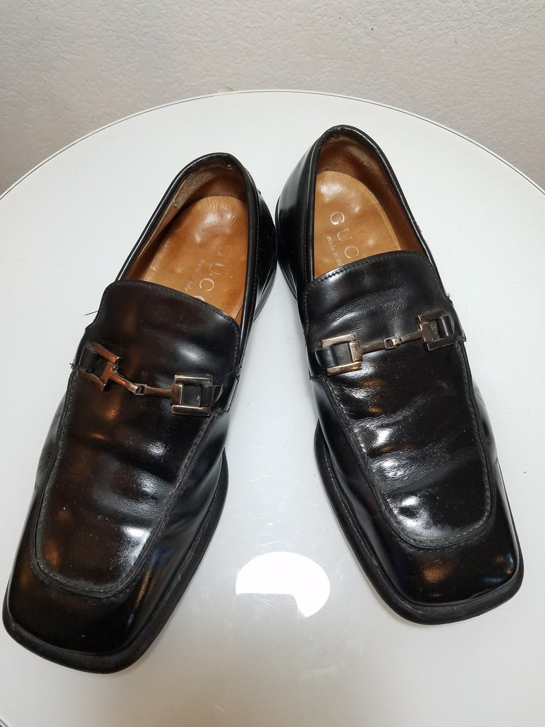 a183832a4e3 FREE SHIPPING vintage Men GUCCI Loafers