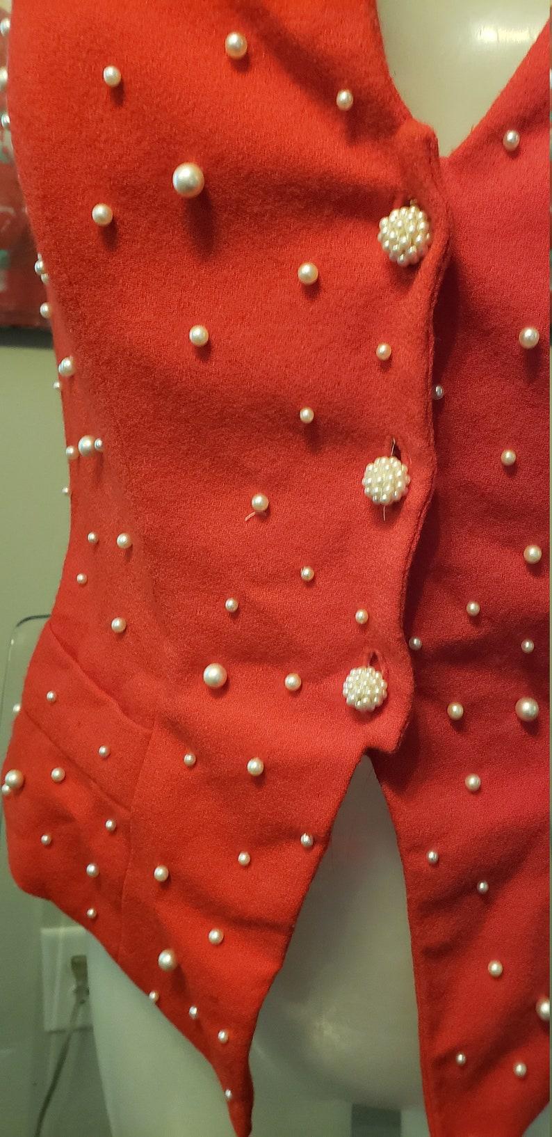 hold 4 katie  Vintage  1980  Crepe  Pearl  Corset  Bustier  Top