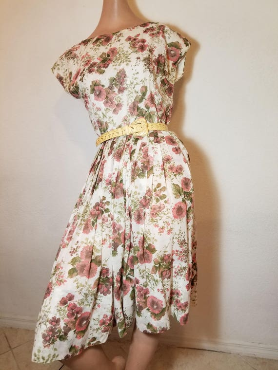 FREE SHIPPING 1950 Cotton Day Dress  41242c920923