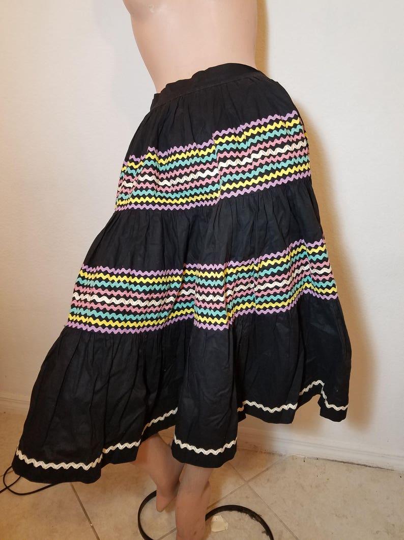 905f33e5f6 FREE SHIPPING 1950 Cotton Full Circle Skirt   Etsy