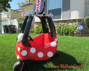Minnie Mouse Car Cozy Coupe Kit Vinyl Sticker and Tutorial Package- NO CAR INCLUDED!