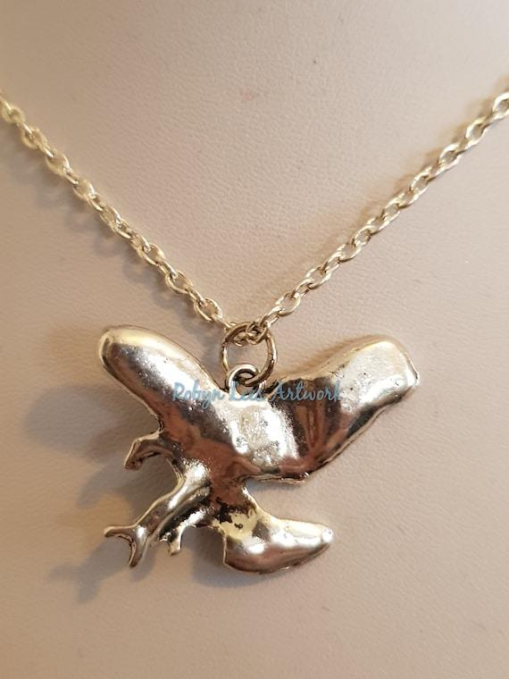CHOKER NECKLACE 3D BIRD SKULL Eagle Raven Pendant Goth Pagan Wicca COLLAR
