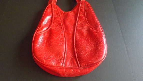 Candy Apple Purse Vintage Shoulder Bag Vegan Large 60s 1960s  6bd4678d43d1f