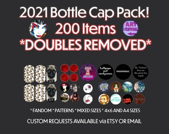 Custom DIGITAL COLLAGE COMMISSION (Bottle Cap & Other Sizes)