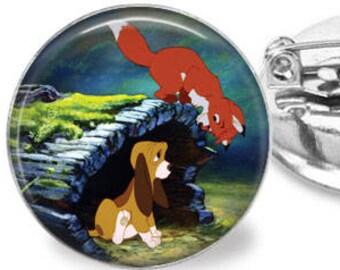 Fox & Hound Hide and Seek Brooch