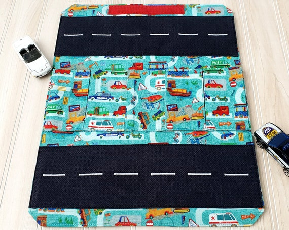 Toy Carrier with Road - Small Vehicles - Toy Wallet