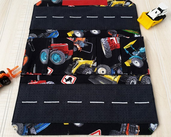 Toy Carrier with Road - Black Tractors Toy Wallet
