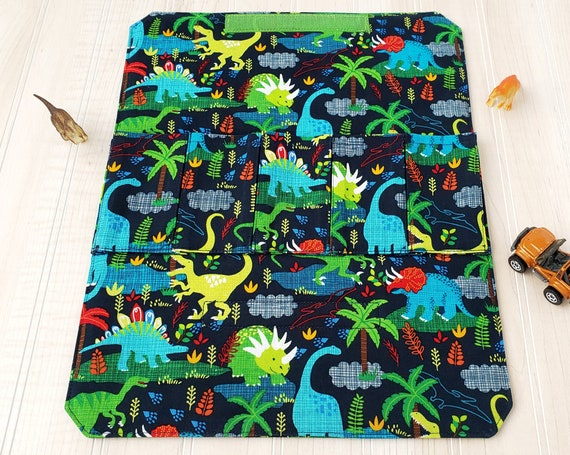 Toy Carrier with Road - Dinosaur on Navy Toy Wallet